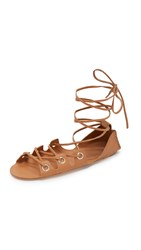 Zimmermann Eyelet Gladiator Sandals Tan Tan