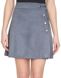1.State Faux Suede Skirt Grey