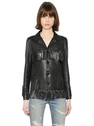 Saint Laurent Fringed Nappa Leather Jacket