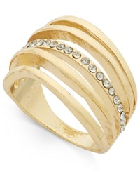 Inc International Concepts Gold Tone Multi Row Pave Statement Ring Only At Macy's