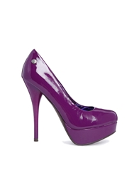Blink Purple Heeled Platform Shoe Purplepatent