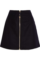 Acne Studios Prisca Wool Blend Twill Mini Skirt Midnight Blue