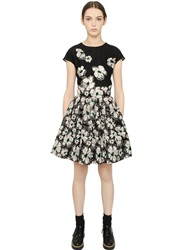Blugirl Floral Embroidered Lace And Jacquard Dress