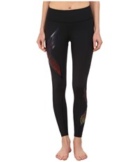 2Xu Mid Rise Compression Tights Black Ten Year Sunset Women's Workout