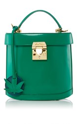 Mark Cross Benchley Bag With Leaf Charm Green
