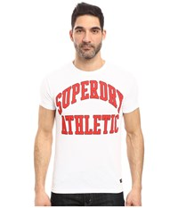 Superdry Tigers Athletics Tee Optic Heather Men's T Shirt White