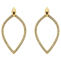 Melissa Odabash Crystal Open Teardrop Earrings Gold