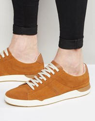 Hugo Boss Boss Orange Perf Suede Trainers Brown