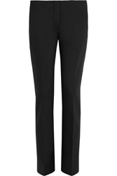 Acne Studios Cropped Mid Rise Wool Blend Twill Pants Black