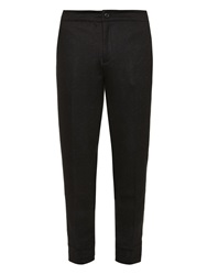 John Varvatos Leather Trim Slim Leg Trousers
