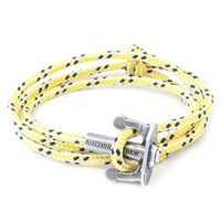 Anchor And Crew Union Rope And Silver Bracelet Yellow Dash