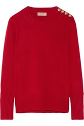 Burberry London Embellished Cashmere Sweater Claret