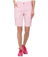 Puma Pattern Tech Bermuda Raspberry Plaid Women's Shorts Red