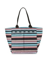 Le Sport Sac Lesportsac Everygirl Striped Tote Bag Tennis Stripe