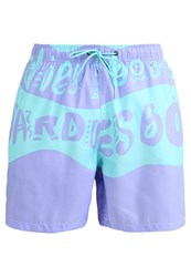 Boardies Swimming Shorts Purple Aqua Green Blue