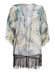Label Lab Abstract Math Kimono Green