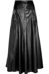 Chloe Leather Maxi Skirt Black