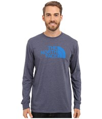 The North Face Long Sleeve Half Dome Tee Cosmic Blue Heather Bomber Blue Men's T Shirt