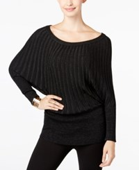 Thalia Sodi Dolman Sleeve Metallic Sweater Only At Macy's Black Combo