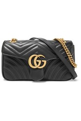 Gucci Gg Marmont 2.0 Small Quilted Leather Shoulder Bag Black