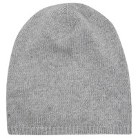 French Connection Cashmere Blend Beanie Hat Light Grey Mel