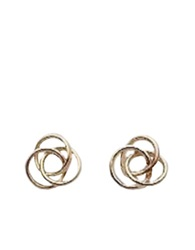 Lord And Taylor 14K Yellow Gold Polished Love Knot Earrings