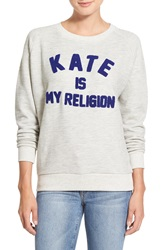 Eleven Paris 'Kate Is My Religion' Pullover Light Grey