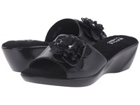 Walking Cradles Cuddle Black Soft Kidskin Women's Slide Shoes