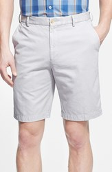Men's Big And Tall Peter Millar 'Winston' Washed Twill Flat Front Shorts Light Grey