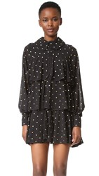 Mcq By Alexander Mcqueen Tiered Party Dress Black Gold