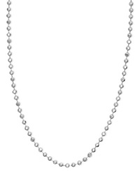 Macy's 14K White Gold Necklace 16 20' Bead Chain