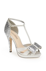 Menbur 'Bornehl' Satin And Glitter Pump Silver