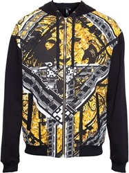 Versus Hero Print Tracksuit Top Black