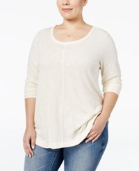 Styleandco. Style Co. Plus Size Long Sleeve T Shirt Only At Macy's Warm Ivory