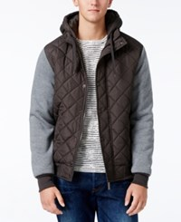 Ring Of Fire Men's Hooded Puffer Coat Charcoal