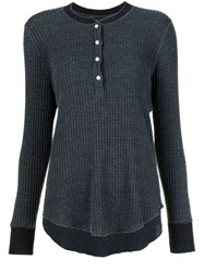 Nsf Henley Jumper Grey