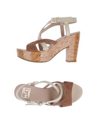 Janet And Janet Platform Sandals Cocoa