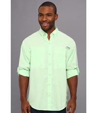 Columbia Tamiami Ii L S Key West Men's Long Sleeve Button Up Blue