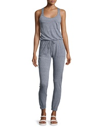 Candc California C And C California Triblend Racerback Jumpsuit Heather Gray