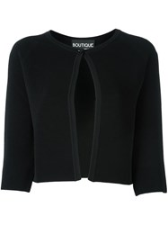 Boutique Moschino Cropped Cardigan Black
