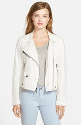 Rebecca Minkoff 'Wes' Cotton Moto Jacket White