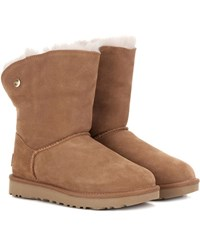 Ugg Valentina Fur Lined Suede Boots Brown