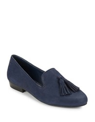 424 Fifth Blake Leather Loafers Blue