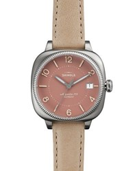 Shinola 36Mm Gomelsky Two Tone Watch W Leather Strap White