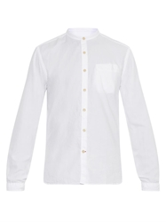 Oliver Spencer Granddad Collar Oxford Cotton Shirt