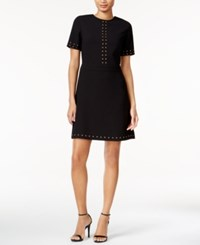 Bar Iii Studded A Line Dress Only At Macy's Deep Black