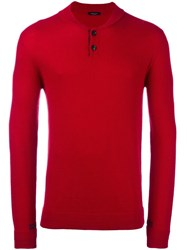 Roberto Collina Buttoned Textured Pullover