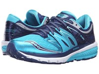 Saucony Zealot Iso 2 Navy Blue Silver Women's Running Shoes