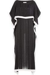 Zeus Dione Silk Layered Front Dress Black