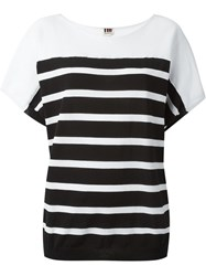 I'm Isola Marras Striped Knit Top White